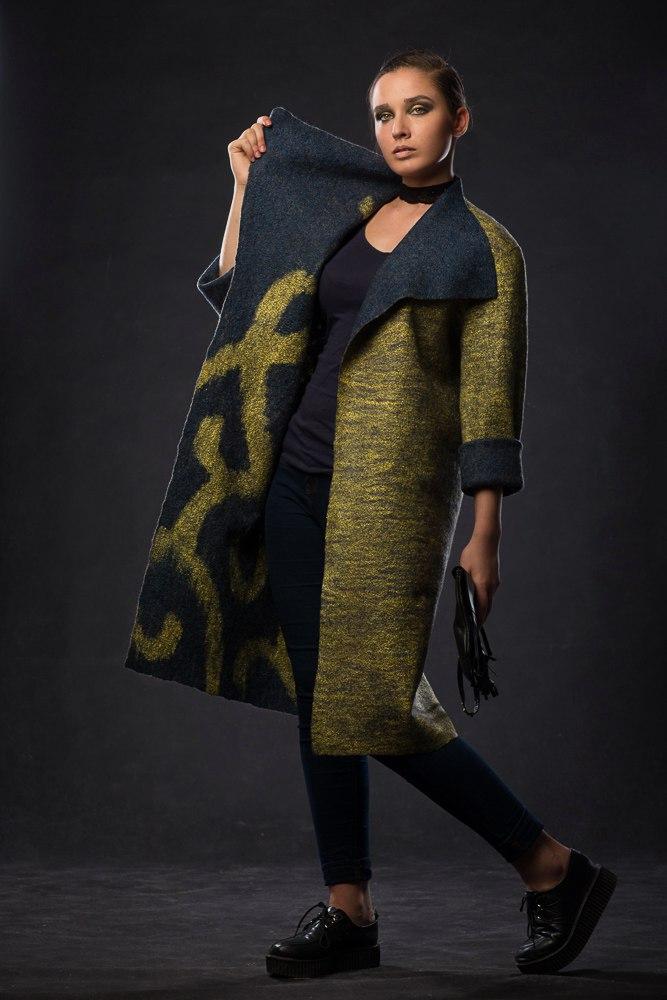 Nunofelt ovčí vlna, Katerina Korshun, handmade