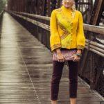 Kabátek žlutý s dekorací z hedvábí,Nunofelt ovčí vlna, Katerina Korshun, handmade