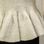 Svatební kabátek bíly,Nunofelt ovčí vlna, Katerina Korshun, handmade