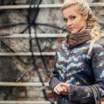 Podzimní kabátek s dekorací z runa,Nunofelt ovčí vlna, Katerina Korshun, handmade
