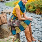 Sukně barevné laděná,Nunofelt ovčí vlna, Katerina Korshun, handmade