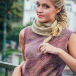 Letní halenka plstěná,Nunofelt ovčí vlna, Katerina Korshun, handmade