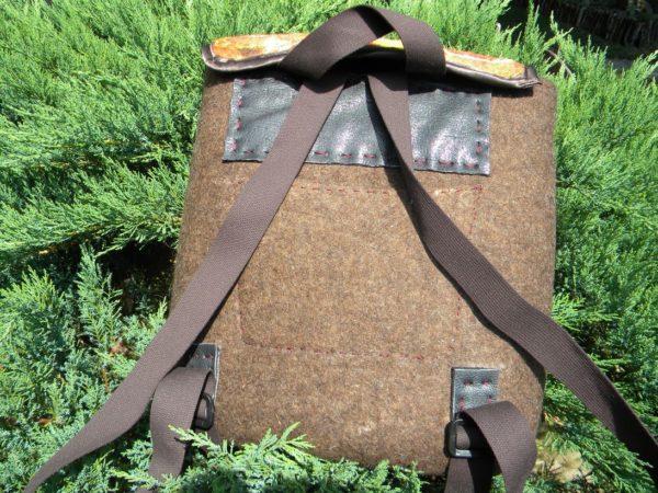 batoh mokřé plstění