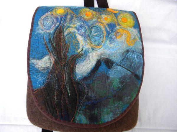 Batoh plstěný, van Gogh