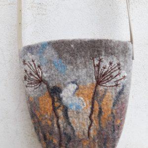Plstěná dámská kabelka